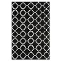 Contemporary Rug - Dhurries Wool Pile -Black/Ivory Style-B