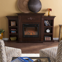 Tennyson Electric Fuel Fireplace w/ Bookcases