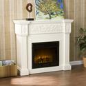 Calvert Carved Ivory Gel Fireplace