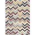 Ferrera Collection Area Rug-Chevron