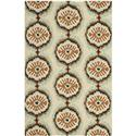 Country & Floral Rug - Four Seasons Polypropylene -Beige/Green