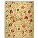 Transitional Rug - Chelsea Wool Pile -Ivory/Green