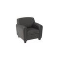 Pillar Faux Leather Club Chair