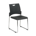 Stacking Chair with Plastic Seat and Back