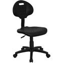 ''Tuff Butt'' Soft Black Polypropylene Utility Task Chair