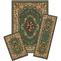 Capri 3 Piece Rug Set-Rose Garden